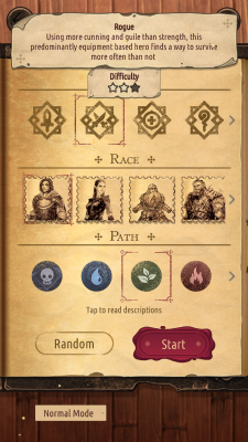 Spellsword Cards: Origins スクリーンショット/キャラメイク画面