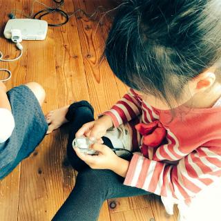 懐かしのポケットステーション、7歳児 現役プレイ中。